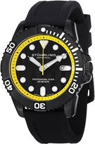 Stuhrling Original Men's 328R.335665 Aquadiver Regatta Atlantis Sport Swiss Quartz Divers Date Rubber Strap Watch