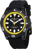 Stuhrling Original Men's Aquadiver Regatta Atlantis Sport Swiss Quartz Divers Date Rubber Strap Watch 328R.335665