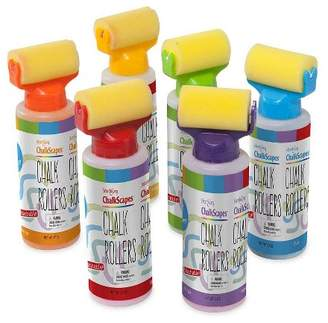 HearthSong Chalkscapes Colorful Sidewalk Liquid Chalk Rollers In Bottles