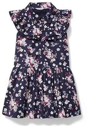Janie and Jack Floral Print Dress (Toddler/Little Kids/Big Kids) (Multi) Girl's Dress