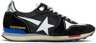 Golden Goose Black and Silver Running Sneakers