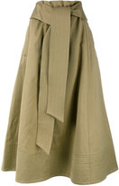 Joseph front knot midi skirt