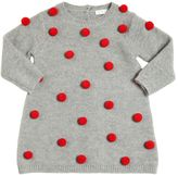 Il Gufo Knitted Merinos Wool Dress W/ Pompoms