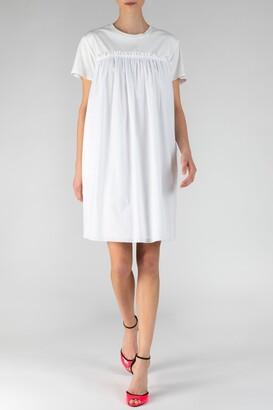 ATM Anthony Thomas Melillo Mix Media Short Sleeve Dress