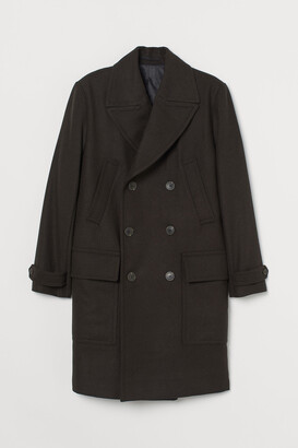 H&M Double-breasted wool-mix coat