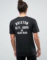 Brixton Woodburn T-shirt With Logo Back Print