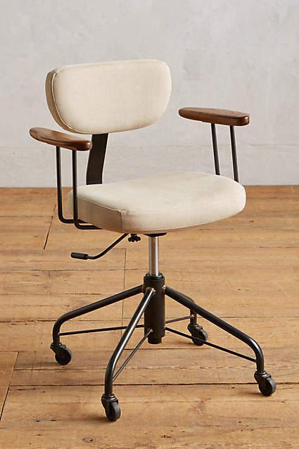 BEIGE Kalmar Desk Chair By District Eight in Size ALL
