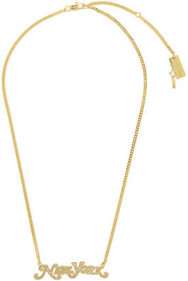Marc Jacobs Gold New York Magazine Edition Nameplate Necklace