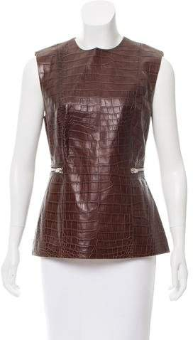 Alexander Wang Leather Embossed Top w/ Tags