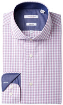 Isaac Mizrahi Graph Check Slim Fit Dress Shirt