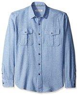 James Campbell Men's Zahar Flannel Long Sleeve Shirt
