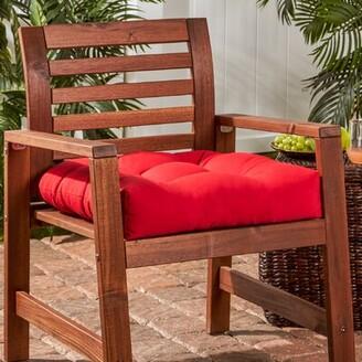 Jockey Greendale Home Fashions Indoor/Outdoor Sunbrella Dining Chair Cushion Greendale Home Fashions Fabric Red