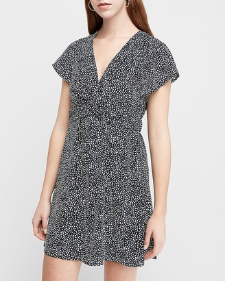 Express Twist Front Fit And Flare Dress