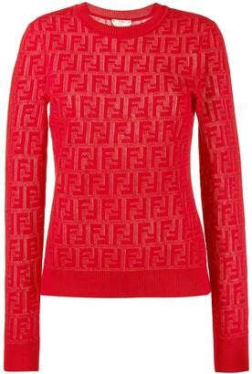 Fendi jacquard knit FF motif jumper