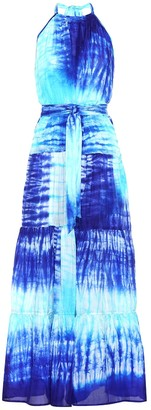 Juliet Dunn Tie-dye silk maxi dress
