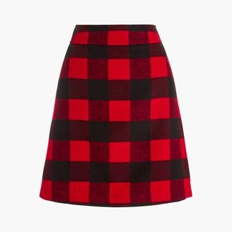 J.Crew Wool-blend A-line skirt