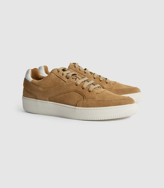 Reiss Grendon - Suede Trainers in Tan