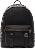Coach 1941 Black Studded Flag Backpack