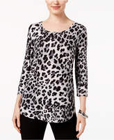 JM Collection Petite Animal-Print Top, Created for Macy's