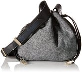 Halston Medium Drawstring Leather Handbag
