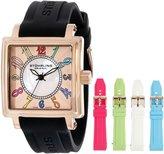 Stuhrling Original Women's 149L3.124614 Lifestyles Ozzie Dream Swiss-Quartz Mother-Of-Pearl Black Strap Set Watch