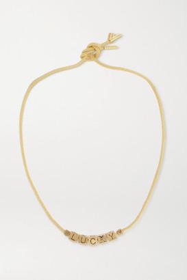 LAUREN RUBINSKI Lucky 14-karat Gold Necklace - one size