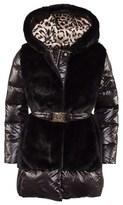 Roberto Cavalli Black Quilted Hooded Jacket