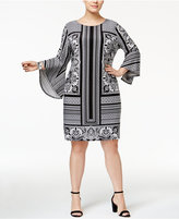 INC International Concepts Plus Size Mixed-Print Sheath Dress, Only at Macy's