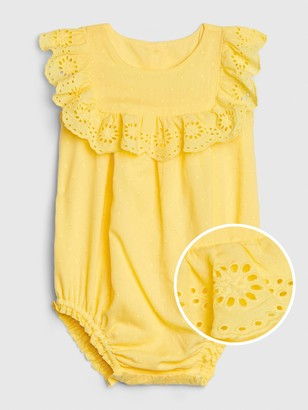 Gap Baby Eyelet Ruffle Shorty One-Piece