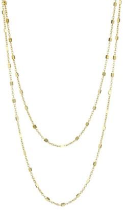 Jennifer Zeuner Jewelry Mav 14K Gold Vermeil Chain-Link Y Necklace