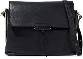 Sandro Pebbled-leather Shoulder Bag