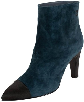 Chanel \N Blue Suede Boots