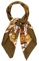 Aquascutum London Printed Silk Scarf