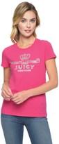 Juicy Couture Logo Crown Jewel Short Sleeve Tee