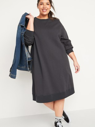 Old Navy French Terry Plus-Size Sweatshirt Shift Dress