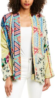 Johnny Was Maeve Velvet Silk-Blend Kimono
