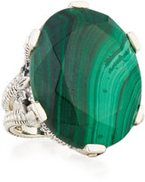 Stephen Dweck Oval Malachite Statement Ring, Size 6