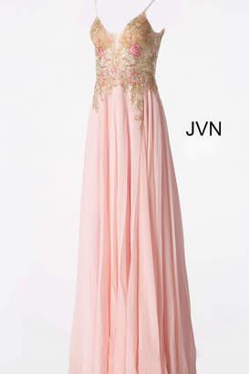 Jovani Flowy Chiffon Gown