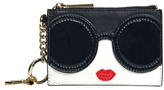 Alice + Olivia Staceface Zip Coin Pouch Keycharm