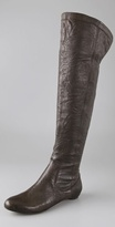Modern Vintage Shoes Dalia Over the Knee Flat Boots with Hidden Wedge