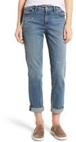 NYDJ Women's Jessica Splatter Print Stretch Relaxed Boyfriend Jeans