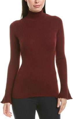 Lafayette 148 New York Ribbed Wool Sweater