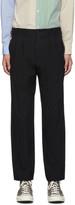Comme Des Garcons Homme Deux Comme des Garcons Homme Deux Black Serge Stripe Trousers