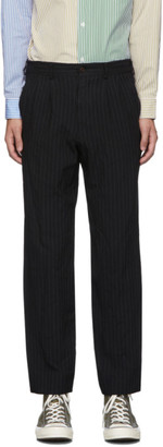 Comme des Garçons Homme Deux Black Serge Stripe Trousers
