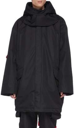 TEMPLA x Raf Simons detachable hood PrimaLoft oversized ski jacket