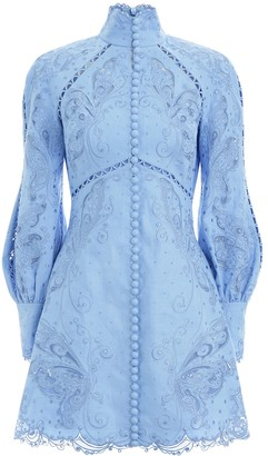 Zimmermann Super Eight Embroidered Mini
