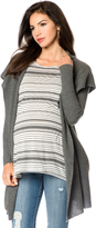 A Pea in the Pod Long Sleeve Hooded Cashmere Maternity Cardigan