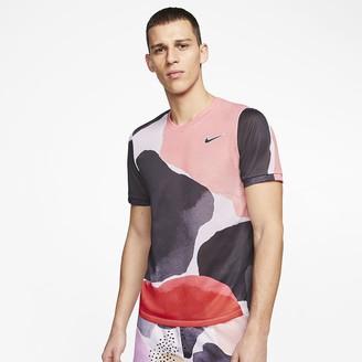 Nike Mens Short-Sleeve Tennis Top NikeCourt Challenger