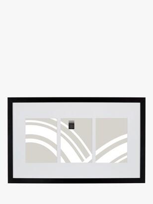 House by John Lewis Box Photo Frame & Mount, 3 Photo, 5 x 7 (13 x 18cm), Black