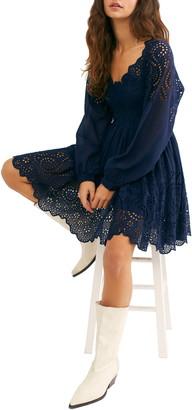Free People Lottie Long Sleeve Minidress